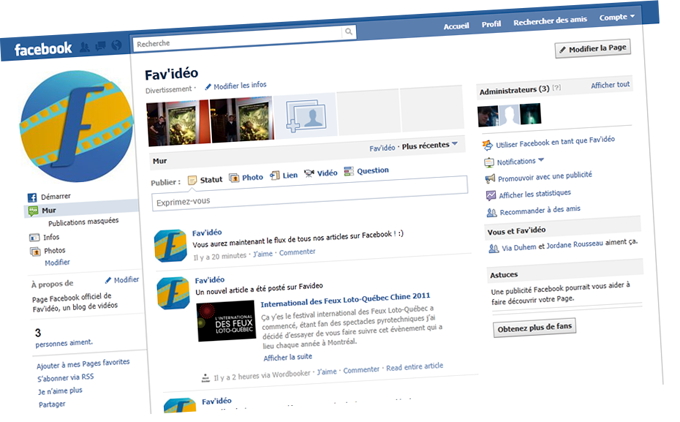 Page Facebook Fav'idéo officielle