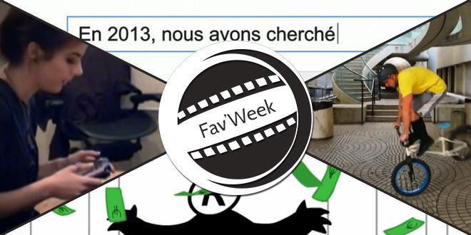 Fav'Week : Mariage, Google Zeitgeist 2013, Gratuit = C Toi le Produit, Bike Parkour