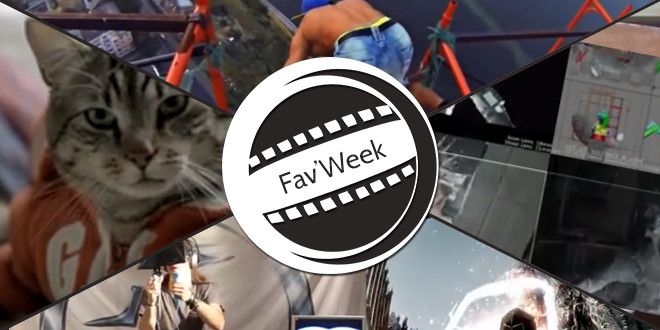 Fav'Week : Gravity effets, la drague par un chat, Parkour etrême, Skyrim