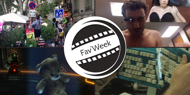 Fav'Week :  Google Glass Porn,  Superhero Depression, Fills Monkey, Nounours animation