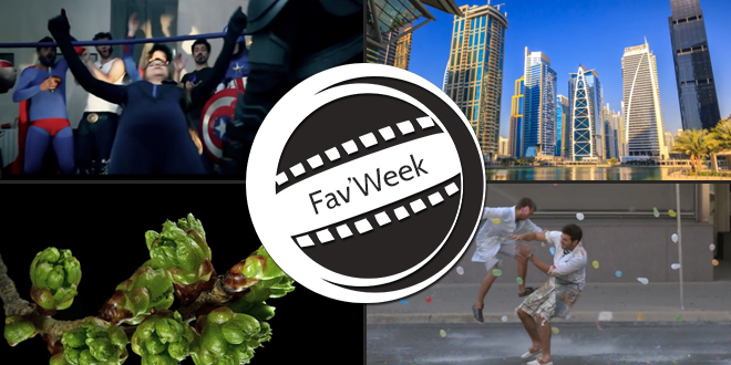 Fav'week : The Superheroes Hangover, Slow Motion Water Balloon Fight, Dubai & Plante Timelapse