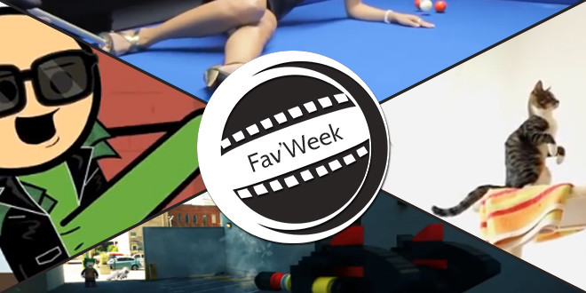 Fav'Week : Spam true, La peur (chats), LEGO invasion, Impossible Pool Trickshots