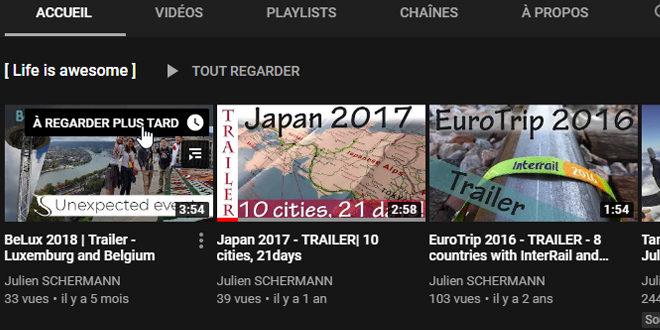 J'ai pas le temps de regarder tes vidéos